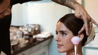 Sofía Palazuelo, durante su maquillaje / @kleykafe