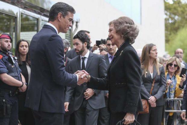 Reina Sofia y el Presidente Pedro Sánchez