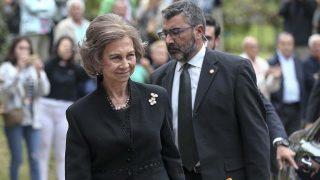 La reina Sofía ha querido dar el último adiós a la soprano Monserrat Caballé /Gtres