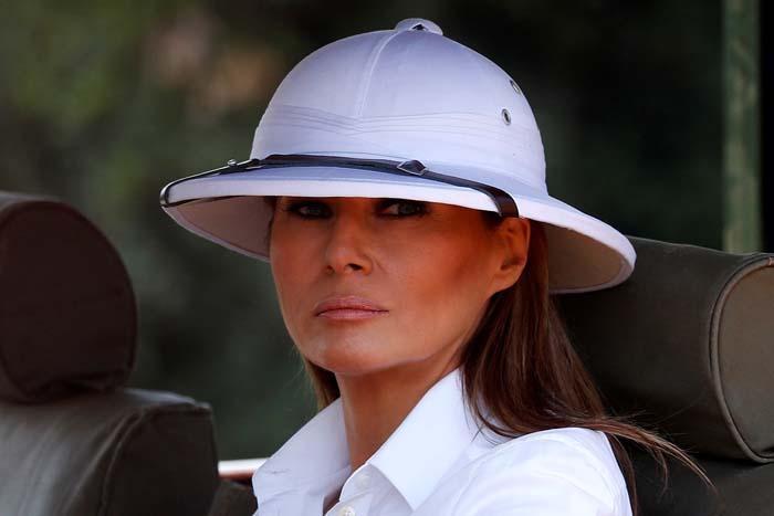 melania trump sombrero explorador salacot