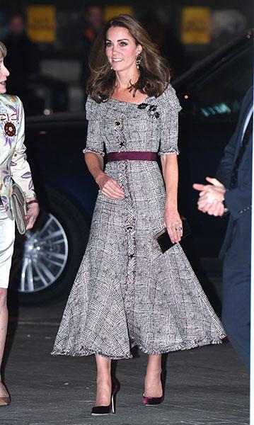 Kate Middleton a su llegada al museo Victoria&Albert