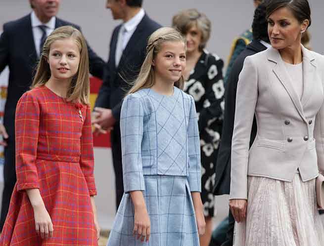 princesa Leonor, la infanta Sofía y Doña Letizia