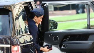 Meghan Markle a su llegada al Castillo de Windsor / Gtres