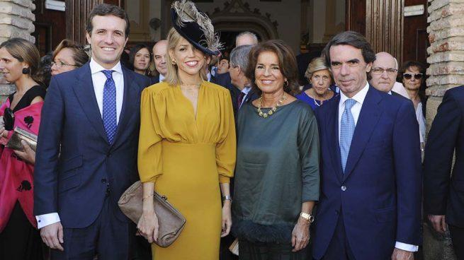 EN IMÁGENES | Pablo Casado y José María Aznar, encuentro en la boda del hijo de Ángel Acebes