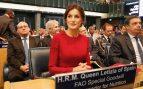 Doña Letizia en la sede de la FAO