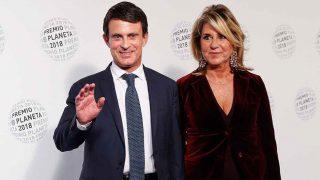 Manuel Valls y Susana Gallardo, en el Premio Planeta 2018 / Gtres