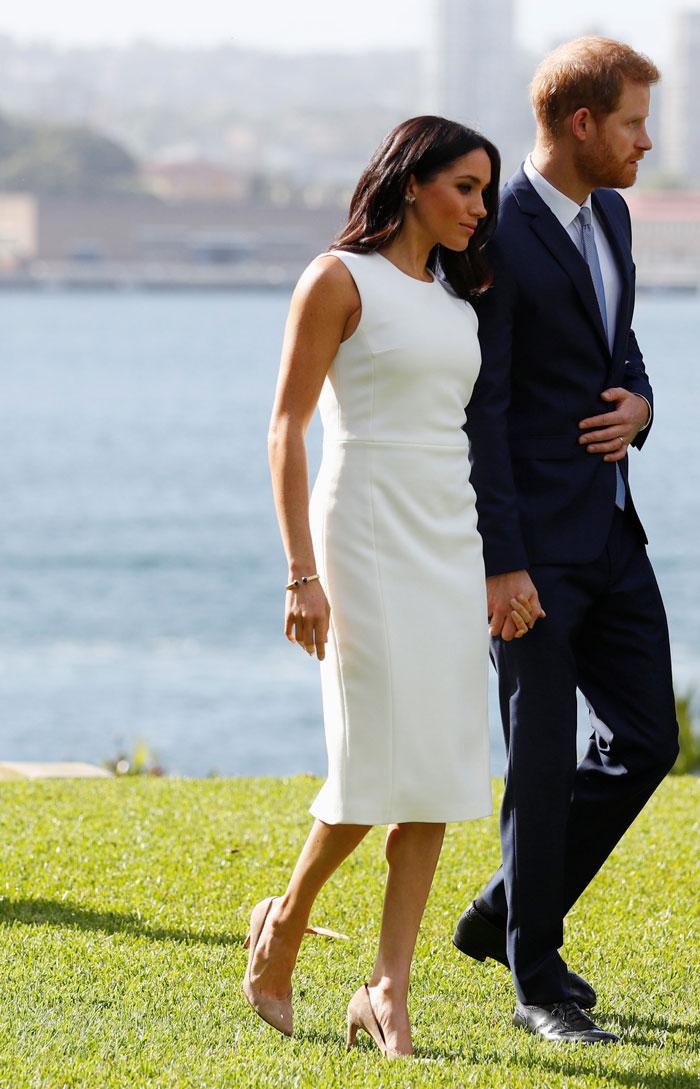 Meghan Markle y el príncipe Harry en Australia