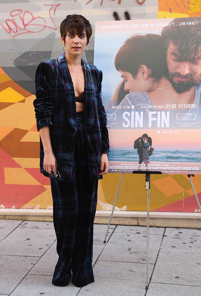 María León con traje de Zara