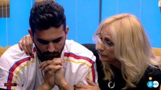 Suso recibe la visita de su madre./Mediaset