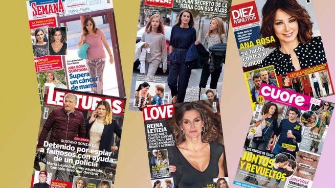 La reina Letizia y Ana Rosa Quintana protagonizan el kiosco de este miércoles