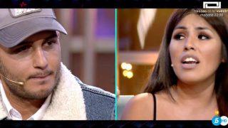 Isa Pantoja y Omar Montes en el plató de GH VIP 6./Mediaset