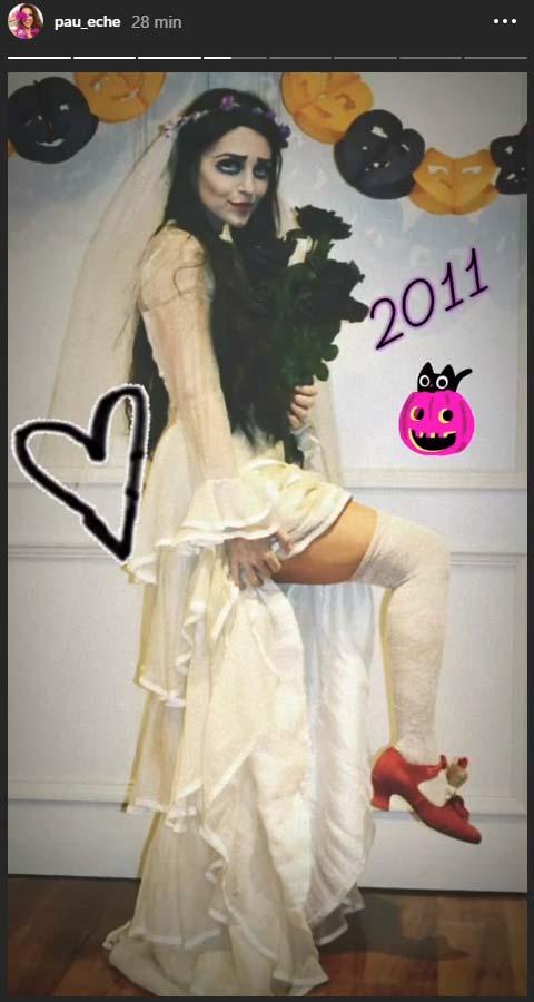 En 2011, Paula Echevarría fue la novia cadáver
