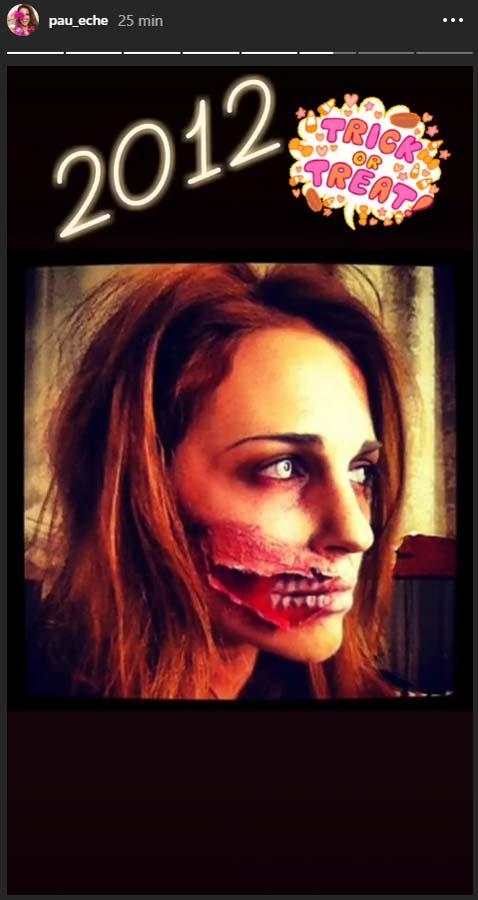 En 2012, Paula apostó por ser una zombie