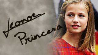La personalidad de la princesa Leonor según su firma