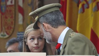 Leonor de Borbón con Felipe VI / Gtres