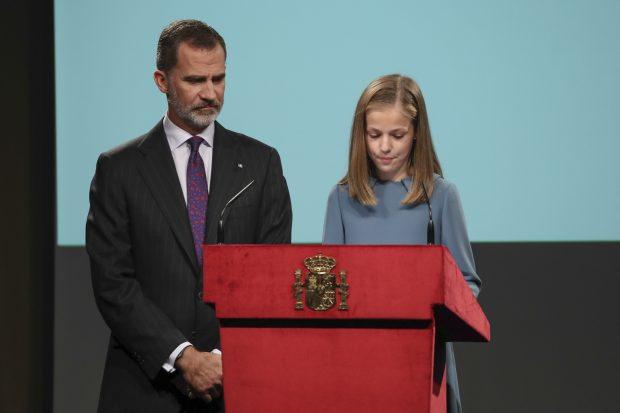 El camino hacia la Corona: Leonor pronuncia sus primeras palabras en público en un día histórico