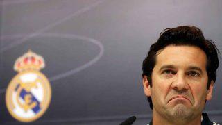 Santiago Solari, durante su primera conferencia de prensa como entrenador del Real Madrid / Gtres