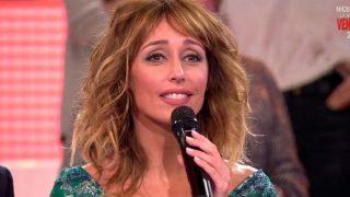 Emma García durante su despedida /Mediaset