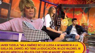 Mila Ximénez con Javier Tudela en plató /Mediaset