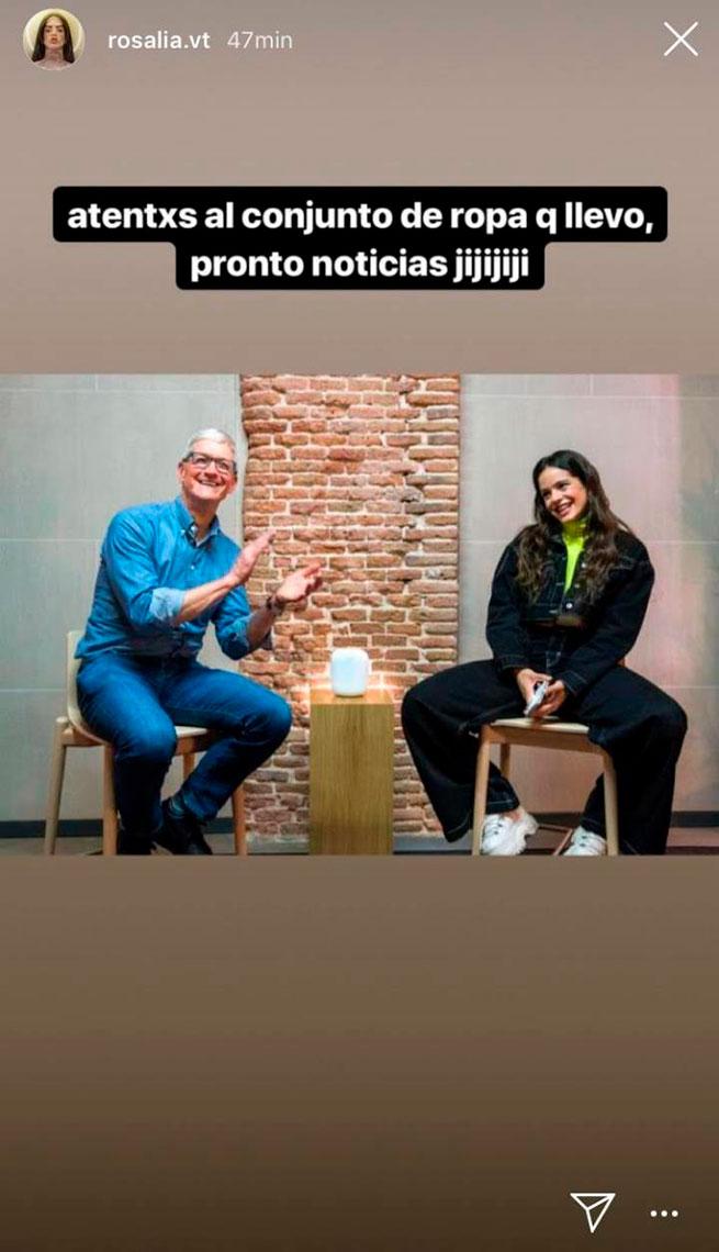 rosalía tim cook instagram