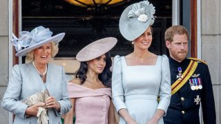 Camilla Parker Bowles , Kate Middleton , Meghan Markle y el príncipe Harry en el Trooping The Colour / Gtres .