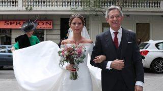 Josema Yuste y su hija llegando a la ceremonia / Gtres.