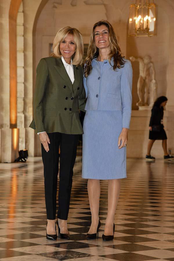 Brigitte Macron y Begoña Gómez