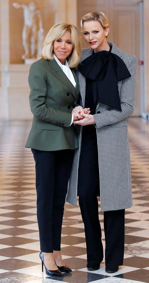 Brigitte Macron y la Princesa Charlene de Mónaco