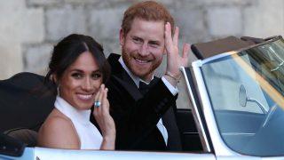 El día de su boda, Meghan lució una sortija de aguamarina de Diana / Gtres