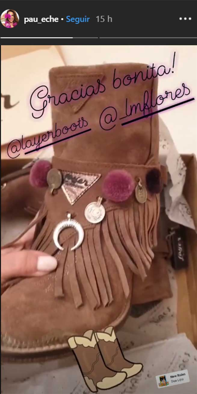 paula echevarría botas instagram