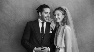 Marta y Carlos, recién casados / Peter Lindbergh.