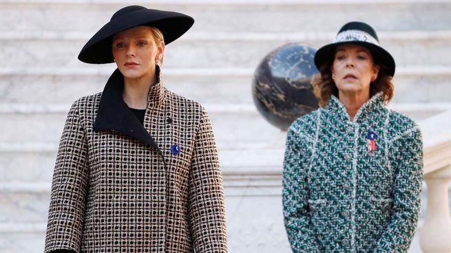 La princesa Charlene de Mónaco y la princesa Carolina de Hanover