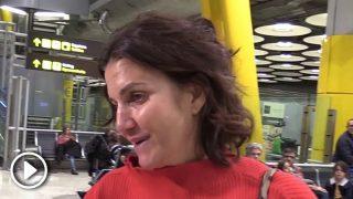 Samanta Vallejo-Nágera a su llegada al aeropuerto /Gtres