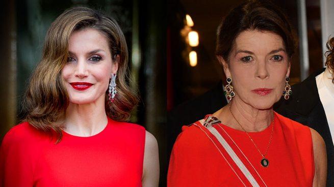 Letizia y Carolina de Mónaco mismo vestido