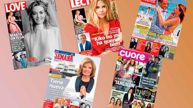 Portadas, revistas, corazón, Campos