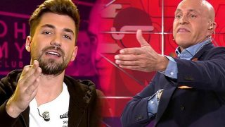 Kiko Matamoros y Alejandro Albalá durante su cara a cara /Mediaset