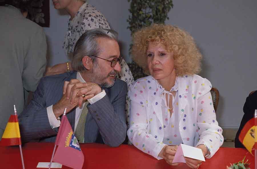 Cayetana de Alba y Jesús Aguirre en una imagen de archivo