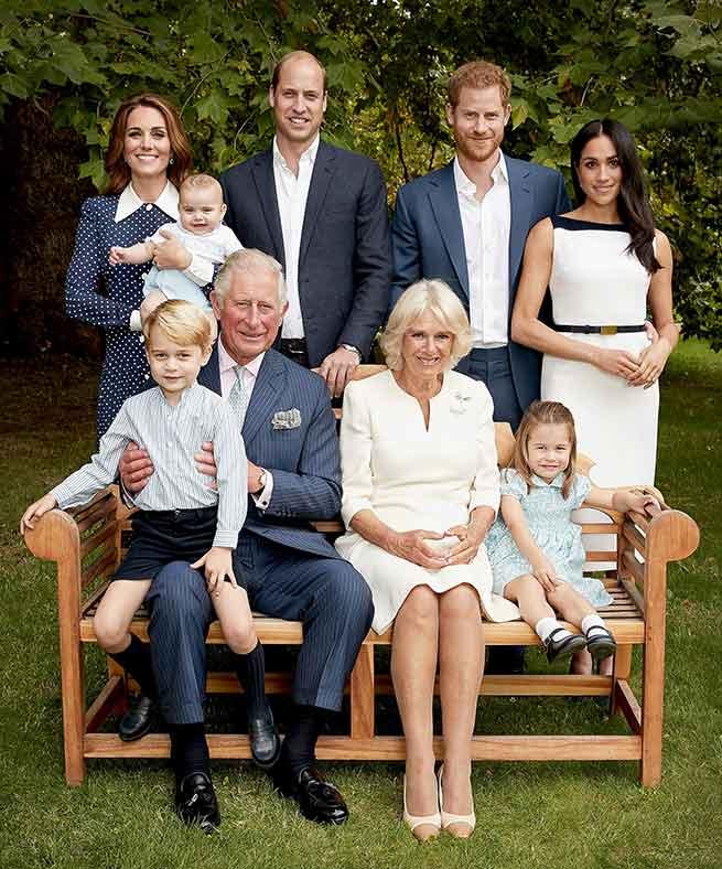Retrato de la Familia Real Británica con motivo del 70 cumpleaños de Carlos de Inglaterra