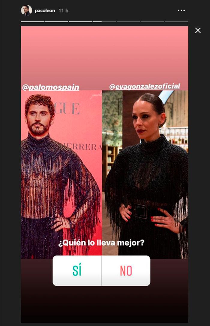Storie de Paco León sobre el duelo de estilo con Eva González