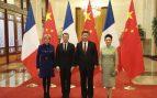 Peng Liyuan y Brigitte Macron en Pekín en enero de 2018
