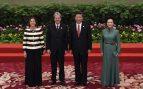 Peng Liyuan y Emanuela Mauro en Pekín