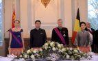 Peng Liyuan y Matilde de Bélgica durante una cena de Estado en Bruselas en 2014