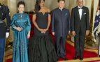 Peng Liyuan y Michelle Obama en Washington en 2015