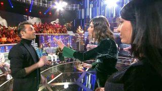 Sandra Barneda, Aurah Ruiz y Hugo Castejón en un momento de El Debate / Telecinco
