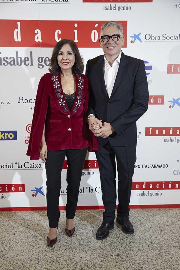 Isabel Gemio con Boris Izaguirre
