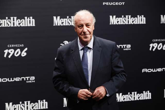 Vicente del Bosque en la gala Men's Health