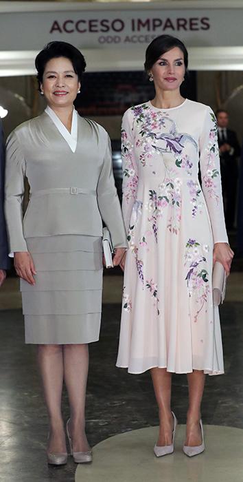 Letizia y Peng Liyuan