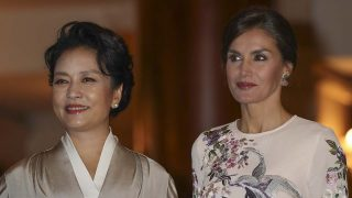 La Reina Letizia y Peng Liyuan / Gtres