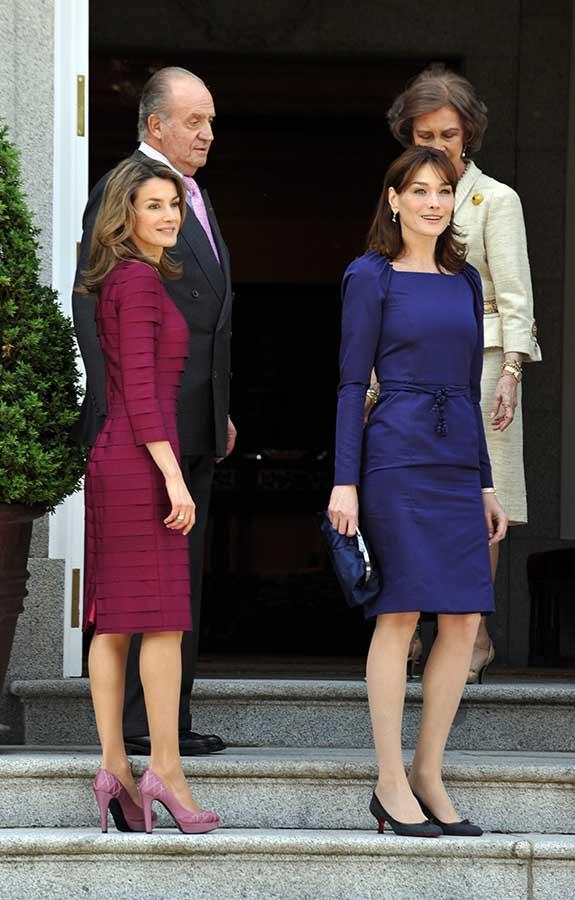 Letizia y Carla Bruni en 2009