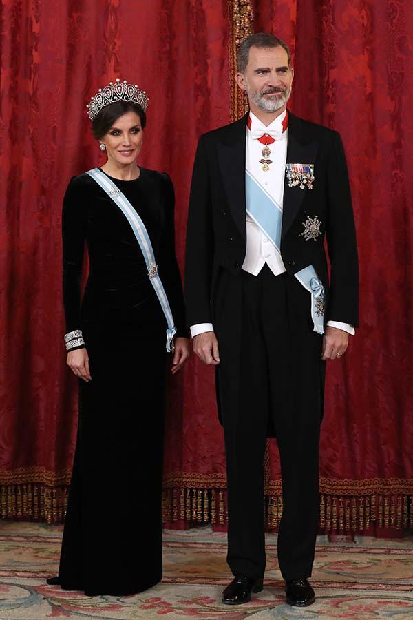 Letizia Ortiz durante la cena de gala en honor al Presidente de China
